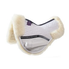 KM Elite High Wither Half Pad (White-Natural)