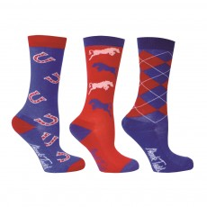 Mark Todd Childrens' Socks (Red/Navy/White)