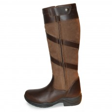 Mark Todd Women's Waterproof Tall Zip Boots (Brown)