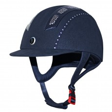 Gatehouse Chelsea Air Flow Pro Riding Hat Crystal (Suedette Navy)