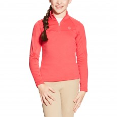 Ariat Kid's Conquest Quarter Zip (Azalea)