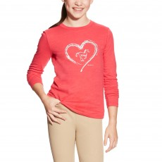 Ariat Kid's Heart Foil Top (Azalea)