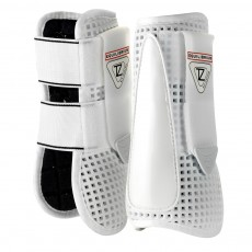 Equilibrium Tri-Zone Open Fronted Tendon Boots (White)