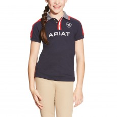 Ariat Kids' FEI Team Polo (Navy)