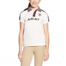 Ariat Kids' FEI Team Polo (White)