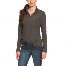 Ariat Women's Tour Mock Neck (Charcoal Grey)