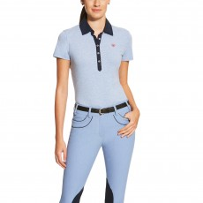 Ariat Women's Askill Polo (Chambray Blue)