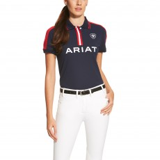 Ariat Women's New Team Polo (Navy)
