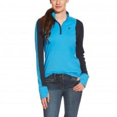 Ariat Women's Lowell Quarter Zip (Hydro Blue)
