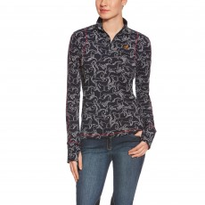 Ariat Women's Lowell Quarter Zip (Wild Horses Print)