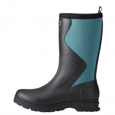Ariat Women's Springfield Rubber Boot (Black/Dusty Teal)