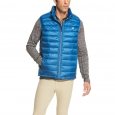 Ariat Men's Ideal Down Vest (Rush of Blue)