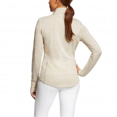 Ariat Women's Gridwork Half Zip (Oatmeal Heather)