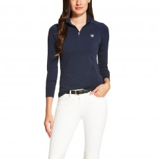 Ariat Women's Odyssey Long Sleeve Quarter Zip (Navy)