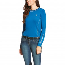 Ariat Women's Cambria Logo Long Sleeve (Rush of Blue)