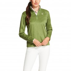 Ariat Women's Conquest Quarter Zip (Olive Marine)