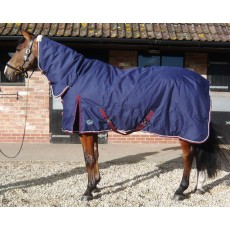 JHL Heavyweight Stable Combo Rug (Navy & Burgundy)