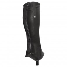 Mark Todd Adults Patent Piped Leather Chaps (Black)