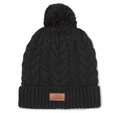 Musto Women's Chunky Cable Knit Bobble Hat (Black)