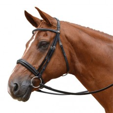 Albion KB Competition Snaffle Bridle with Cavesson (30mm Thickness)