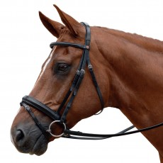 Albion KB Competition Snaffle Bridle with Flash (30mm thickness)