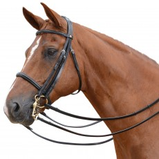 Albion KB Competition Weymouth Bridle with Cavesson (30mm Thickness) + Plain Curb Rein