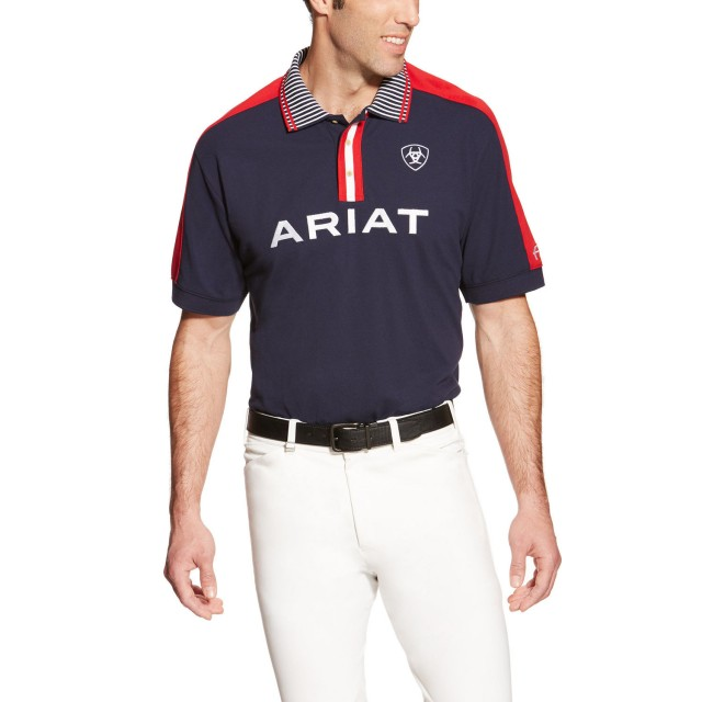 Ariat Men's FEI Team Polo (Navy)
