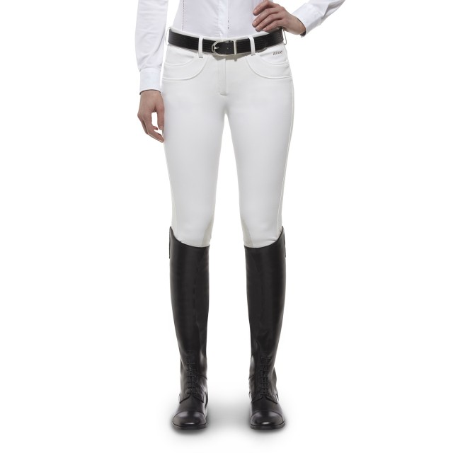 Ariat Women's Olympia Knee Patch Breeches (White)