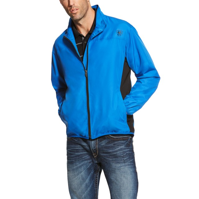 Ariat Men's Ideal Windbreaker Jacket (Olympian Blue)