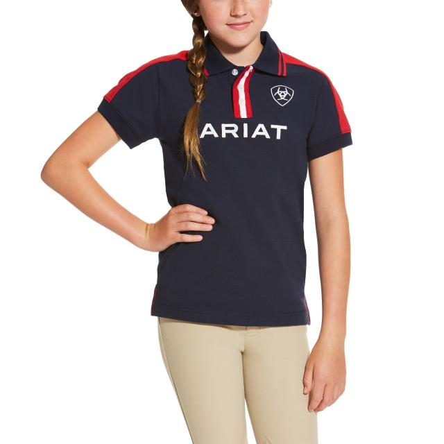 Ariat Kids' New Team Polo (Navy)