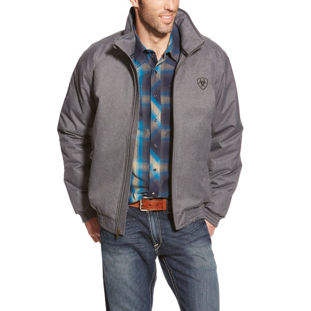Ariat Men's Team Stable Jacket (Charcoal Heather)