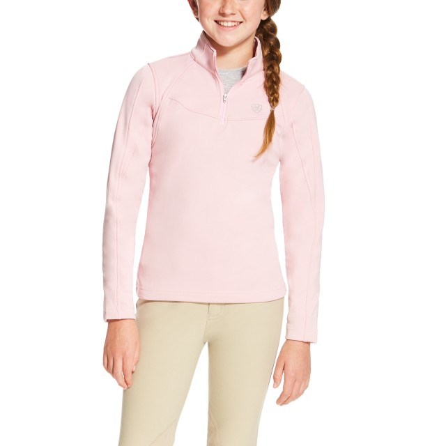 Ariat Girl's Conquest Quarter Zip (Blossom)