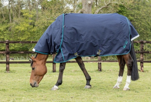 Mark Todd Heavyweight Turnout Rug With Detachable Neck Navy Jade