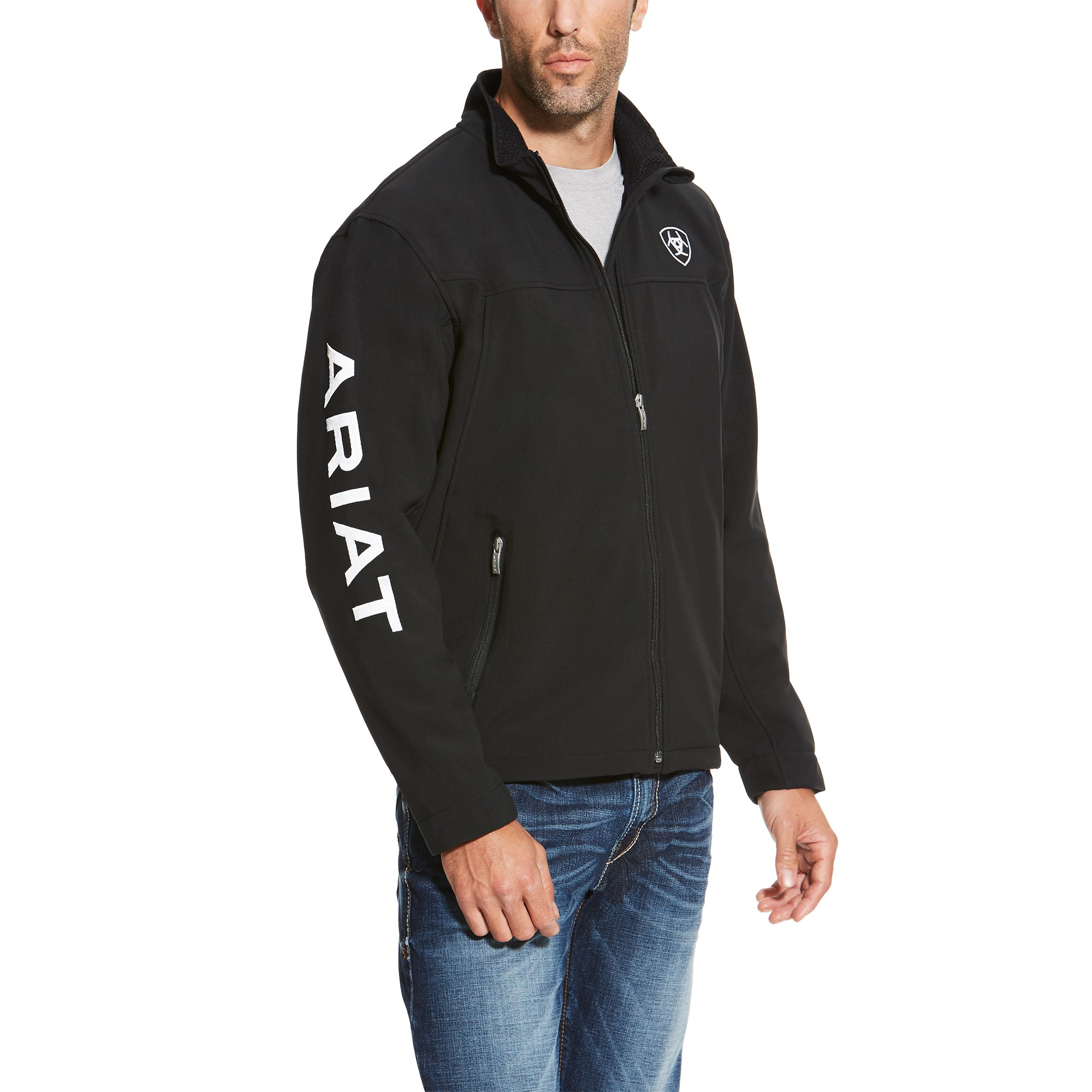 Ariat Men S New Team Softshell Jacket Black Wychanger Barton