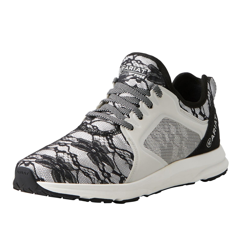 Ariat Women S Fuse Athletic Shoe Black Lace Wychanger Barton