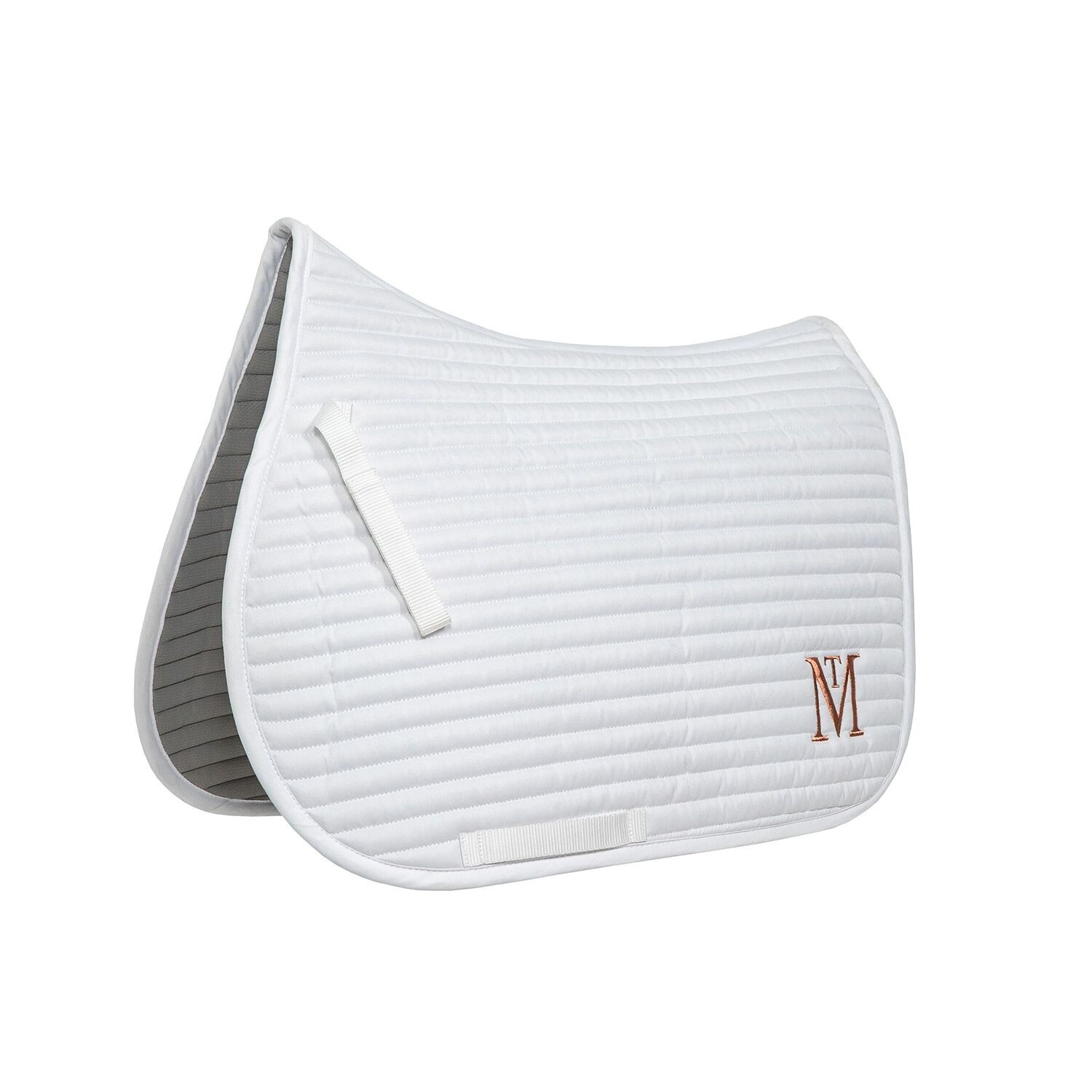 Mark Todd Quilted Saddle Pad White Rose Gold Wychanger