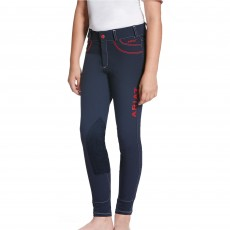 Ariat (Sample) Girl's FEI Olympia Acclaim Knee Patch Breeches (Navy)