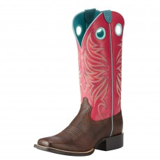 Ariat Women's Round Up Ryder Western Boots (Yukon Chocolate / Magenta)