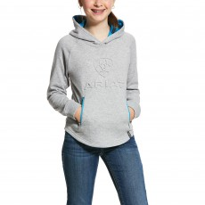 Ariat Girl's 3D Logo Hoodie (Heather Grey)