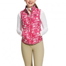Ariat Girl's Emma Reversible Insulated Vest (Beet Pink Toile)