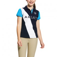Ariat Girl's Taryn Polo (Navy/Nautilus)