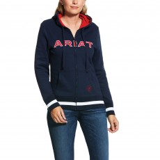 Ariat Women's Logo Full Zip Hoody (Team Navy)