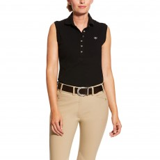 Ariat Women's Sleeveless Prix Polo 2.0 (Black)