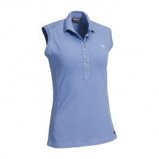 Ariat Women's Sleeveless Prix Polo 2.0 (Blue Heather)