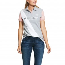 Ariat Women's Taryn Polo (Heather Gray/Bridal Rose)