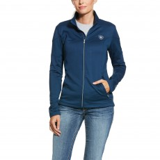 Ariat Women's Tolt Full Zip Sweatshirt (Deep Petroleum)