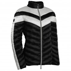 Equisafety Adults Vincenzo Quilted Jacket (White/Black)