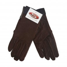 Saddlecraft Adults Gripfast Gloves (Brown)