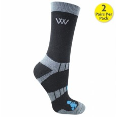 Woof Wear Bamboo Waffle Short Riding Sock (Black)