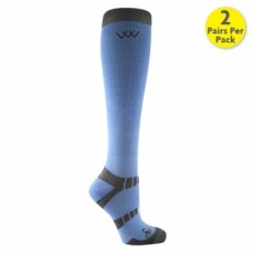 Woof Wear Bamboo Waffle Long Riding Sock (Blue)